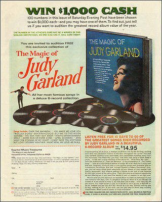 1960s record Ad, Album 'the Magic of Judy Garland', win $100,000! - 011814