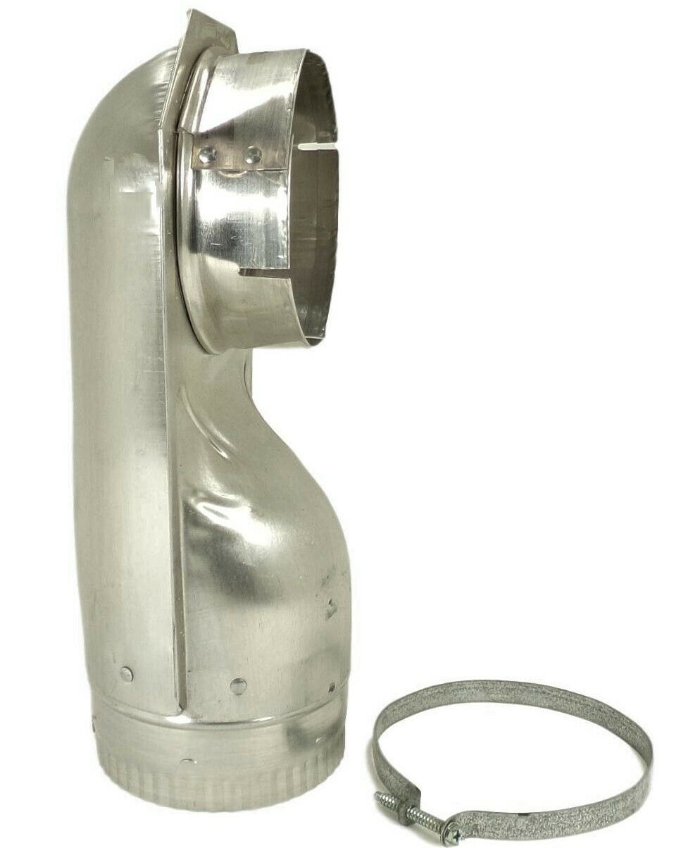 "Builder's Best 49903 4"" Dryer Vent Elbow Close Offset, New"