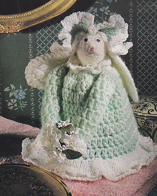 Crochet Pattern ~ RABBIT AIR FRESHENER COVER Bathroom Bunny ~ Instructions  for sale  Kendall