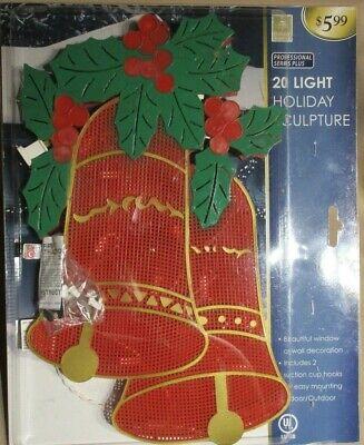 Window Silhouette Christmas Light Sculptures Decoration Indoor Outdoor Set of 2 ()