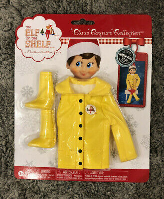 """NEW ELF ON THE SHELF """"CAROLING IN THE RAIN"""" RAINCOAT AND BOOTS"""