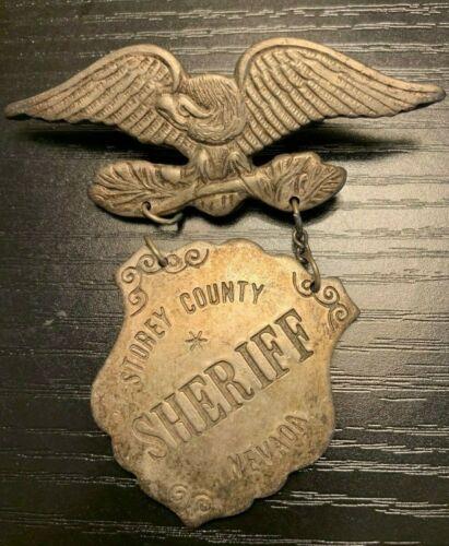 Vintage Sheriffs Badge Storey County Nevada Obsolete