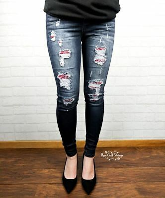 - NWT Judy Blue Bandana Patch Skinny Jeans - Judy Blue - Sizes 1, 3 or 5 only