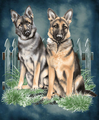 German Shepherds Dog Heavy Weight JQ Signature Plush Queen Blanket - Dedication