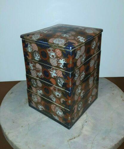 Antique Japanese Imari Porcelain Stacking Box Meiji Period