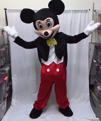 Mickey Mouse Mascot Costume Disney Halloween Party Adult Size Birthday Boy USA  - Mouse Costume Halloween