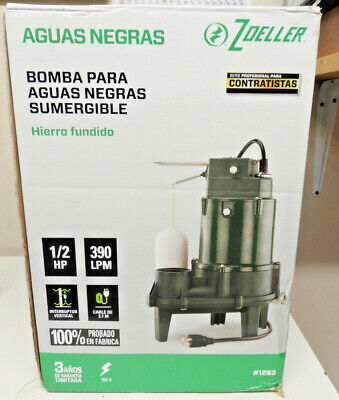 Zoeller Submersible Sewage Pump 12hp 103-gpm Cast Iron 1263 New