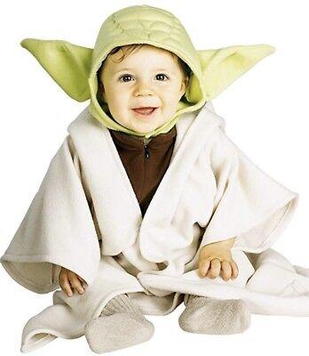 Stars Wars Yoda Child Costume, Toddler Size 2-4 For 1-2 - Yoda Costume For Kids