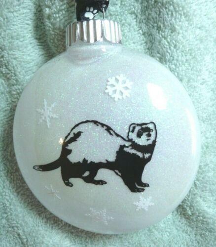 Ferret, Christmas Ornament, Holiday Bulb, Animal Lover Gift, Tree Decoration