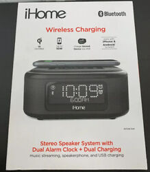 iHome IBTW450B Dual Charging Stereo Speaker System with Dual Alarm and Wireless.