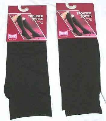 Maroon Womens Socks - 2 Pair Womens NEW Burgundy Wine Maroon Trouser Knee High Socks Comfort Band