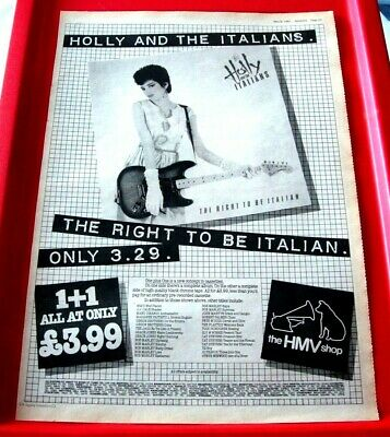 Holly And The Italians Right To Be Vintage ORIG '81 Press/Mag ADVERT Poster-Size