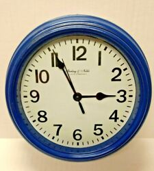 Sterling and Noble  Blue Analog Wall Clock Tested Working