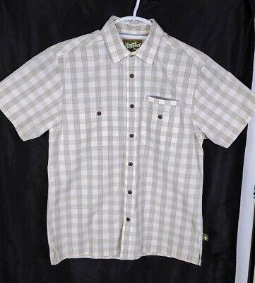 Howler Bros Mens Short Sleeve Plaid Shirt SMALL Size
