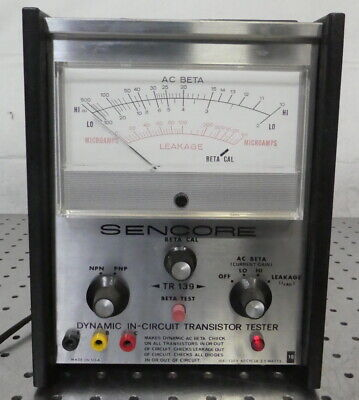 R174440 Vintage Sencore Dynamic In-circuit Transistor Tester Tr-139