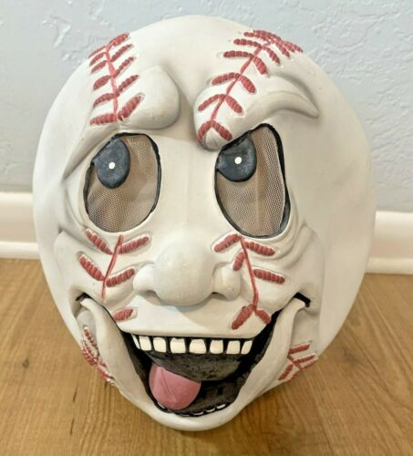 Easter Unlimited Rubber Halloween Mask Laughing Baseball Head Game Face One Size