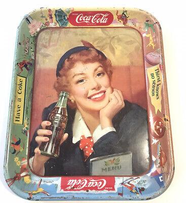 Vintage Drink Coca Cola Advertising Tray Thirst knows No Season Have a Coke MENU