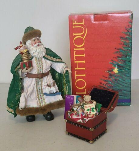 """Clothtique Holiday Treasures 12""""  2000 Special Event Santa Figure 713259"""
