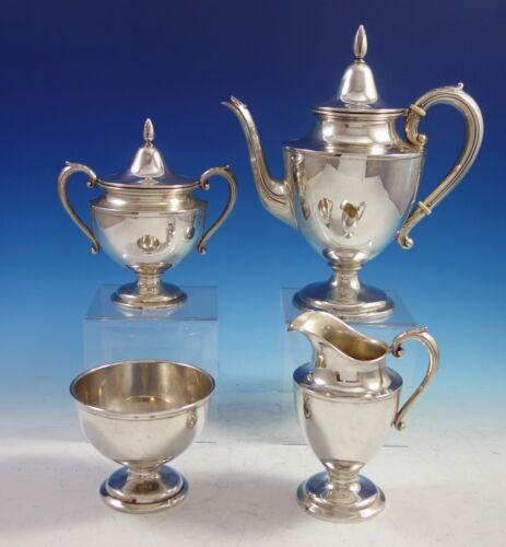Puritan by Wallace Sterling Silver Tea Set 4pc #S20 (#2894)