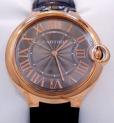 Cartier Ballon Bleu W6920089 40mm 18K Rose Gold Gray Guilloché Dial *BRAND NEW*