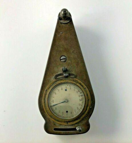 Antique Vintage Clock Gauge Tool Measuring Brass Wood Metal