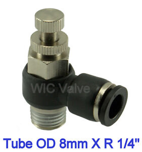 1pc-Flow-Control-Valve-Tube-OD-8mm-X-R-1-4-Metric-Push-In-Quick-Release-Fitting