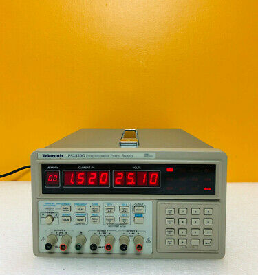 Tektronix Ps2520g 126 Watt Gpib Triple Output Dc Power Supply. Tested