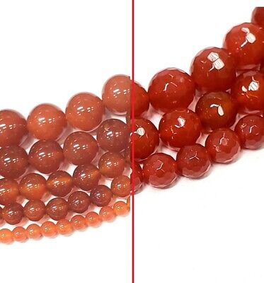 Carnelian Polished Round Bead,Matte Beads, Faceted Round Beads 15.5