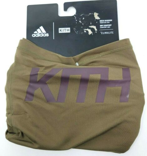 Adidas x KITH Neck Gaiter Face Mask Covering Neck Warmer CW0432 Olive Green