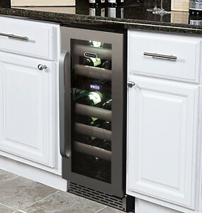 Whynter BWR-171DS Elite 17Bottle Seamless Stainless Steel door Wine Refrigerator