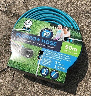Flopro + 50m Meter Hose - Hosepipe, Garden Hose Pipe - 4 Layer Reinforcement