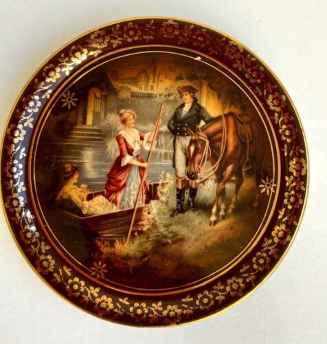 CARLSBAD FINE PORCELAIN MINIATURE NAND PAINTED PLATE