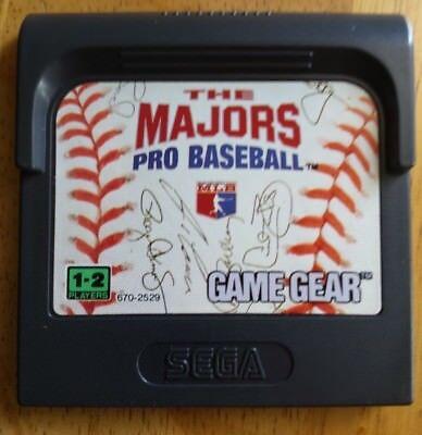 Majors: Pro Baseball (Sega Game Gear, 1992) Classic Video Game sport hit park !!