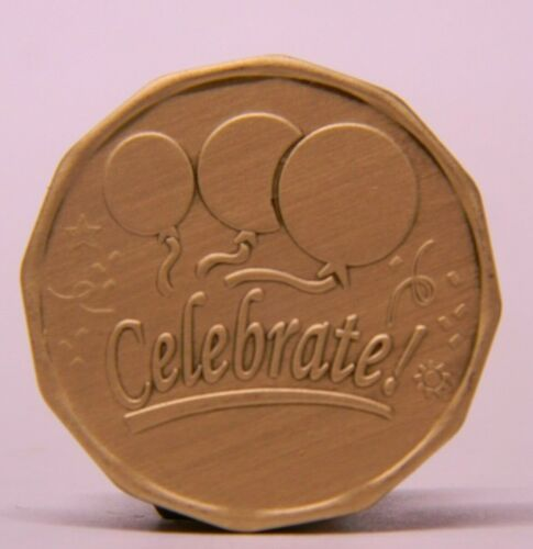 SOBRIETY MEDALLION - CELEBRATE! - BRONZE CHIP