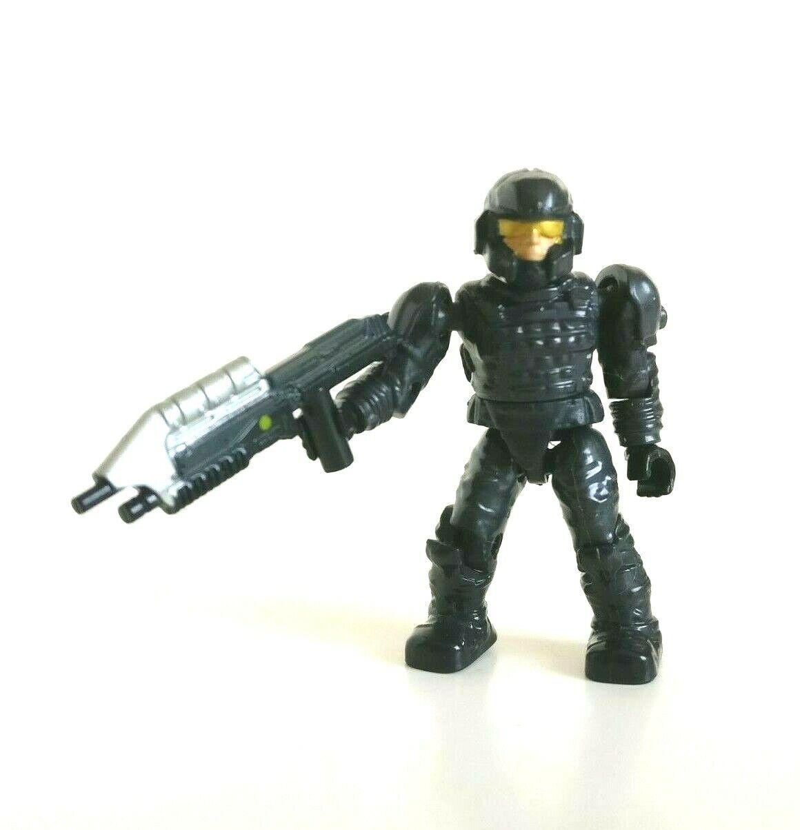 Halo Mega Bloks UNSC Stealth Black Marine with Battle Rifle Figure