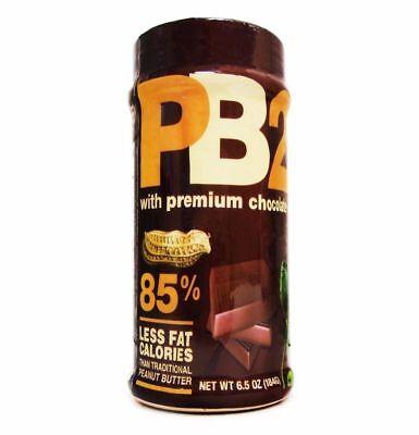 PB2 Powdered Peanut Butter Premium Chocolate Bell Plantation 6.5 oz EXP 5/2020