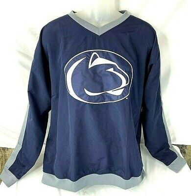 Penn State Nittany Lions Mens Large Navy Blue Pullover Windbreaker Jacket
