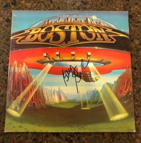 * BARRY GOUDREAU * signed autographed vinyl album * BOSTON * DONT LOOK BACK * 4