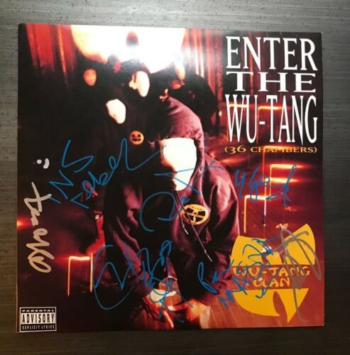 * WU TANG CLAN * signed album * ENTER THE WU TANG * 36 CHAMBERS * x8 * PROOF * 1