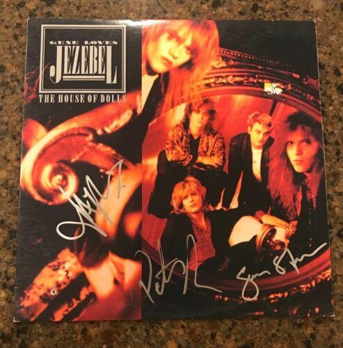 * GENE LOVES JEZEBEL * signed vinyl album * THE HOUSE OF DOLLS * JAY ASTON * 1