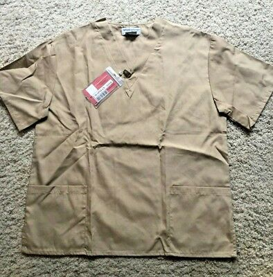 Tan Prisoner Costume for Adults size Medium Shirt and Pants w/Vause ID - Vause Kostüm