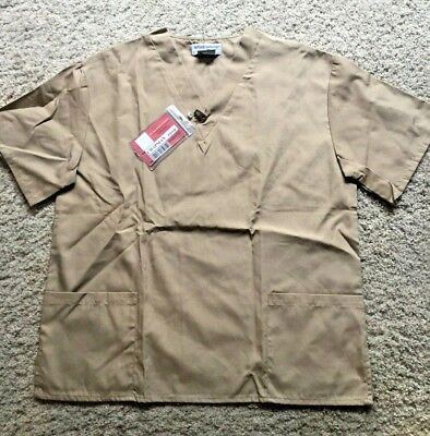 Tan Prisoner Costume for Adults size Medium Shirt and Pants w/Vause ID
