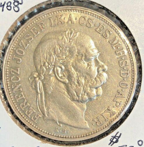Hungary  1909 KB  5 korona  KM 488  XF