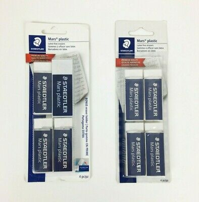 Staedtler Mars Plastic Latex-free Erasers 4-pack - Lot Of 2 Packs