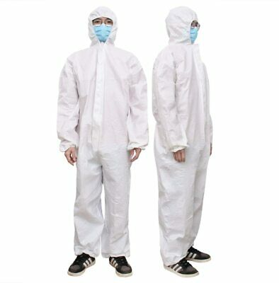3pc Hazmat Protective Suit Gown Coverall - Personal Protection Zip Frnt W Tape