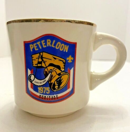 Boy Scouts PETERLOON 1975 BSA Coffee Mug USA Scouting Dan Beard Ohio