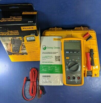 Brand New Fluke 233 Trms Remote Display Digital Multimeter Original Box Case