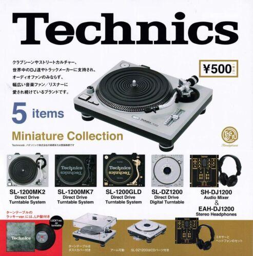 Technics Turntable Miniature Figure Audio Mixer DJ Capsule Toy 5pcs New Japan
