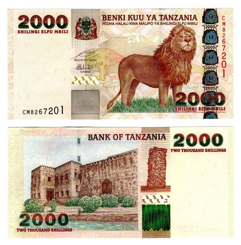 2003 Tanzania 2000 Shillings Uncirculated Note