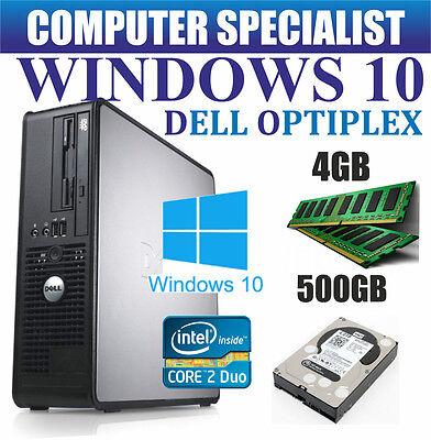 WINDOWS 10 DELL ORDINATEUR PC DE BUREAU INTEL CORE 2 DUO E8400 @ 3.00GHz 500 GO